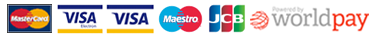 Mastercard Visa Maestro JCB Powered by WorldPay